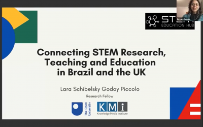 STEM Education Hub Launch – Webinar on Connecting STEM Research, Teaching and Education in the UK and Brazil, Lara Piccolo and Trevor Collins, The Open University and Cecília Baranaukas, Unicamp